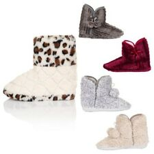 Womens Faux Fur Ankle Slipper Boots Ladies Girls Super Soft Warm Comfy Shoes