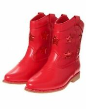 NWT Gymboree RED WHITE & CUTE Sz 10 1 2 Kid Girl Red Cowboy Cowgirl Boots 4th