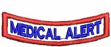 Medical Alert Patch Service Dog Patch Rocker Down Dog Vest Patch Black White Red
