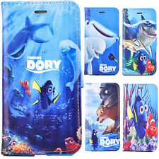 Finding Dory Nemo Fish Sea PU leather phone case Flip carrying cover for iphone