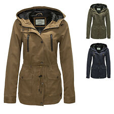 Ladies Between-seasons Jacket Spring Parka Trench Coat Color Mix WOW