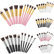 10pcs Pro Cosmetic Makeup Tool Brush Set Eyeshadow Blush Brushes Travel Tools