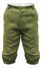 Mens Light Derby Tweed Plus Fours Breeches Breeks Trousers Sage Hunting Trousers