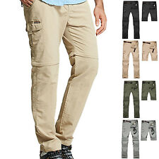 Men Outdoor Hiking Camping Anti-UV Quick Dry Pants Detachable Stretch Trousers