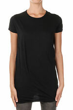 RICK OWENS DRKSHDW New Woman Black Tee T-shirt DOUBLE TEE Made in Italy NWT