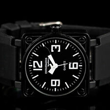 INFANTRY INFILTRATOR Mens Analog Wrist Watch Square Military Tactical Rubber