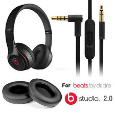 EEEKit Beats by Dr. Dre Studio 2.0 Replacement Ear Cushion Pad+Audio Cable Cord