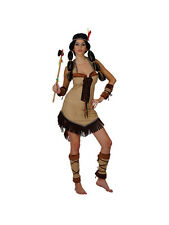 Pocahontas Native Red Indian Princess Wild West Ladies Adult Fancy Dress Costume