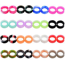 LOT 16Pairs THIN SILICONE Ear Kit Gauges Flesh Tunnel Plugs Sets Ear Expanders