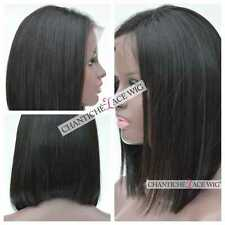 Short Bob Front Lace Human Hair Wig African Americans Brazilian Remy Straight 12