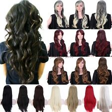 Wig Long Curly Straight Full Hair Cosplay Party Daily Fancy Dress Heat Resistant