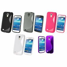 SAMSUNG GALAXY S4 MINI i9190 S-LINE SILICONE GEL COVER CASE AND SCREEN PROTECTOR