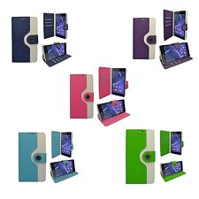 TWO COLOR BOOK FLIP PRINT DESIGN PU LEATHER CASE FOR SONY XPERIA Z2