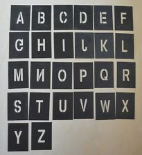 Alphabet A-Z Number 0-9 Stencil Template PVC Materials Letter Set Size Choice