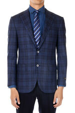 CORNELIANI New Men Wool Cashmere LEADER Checked Jacket Blazer Made in Italy NWT