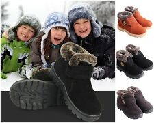 Hot! Girls Boys Winter Warm Boots Kids Children Cotton Leather Shoes Snow Boots