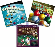 POOL BILLIARDS GAMES Windows PC XP Vista 7 8 10 NEW Factory Sealed