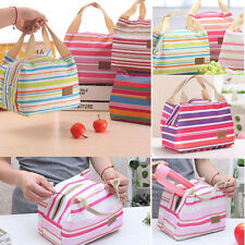 Portable Thermal Insulated Cooler Lunch Box Zipper Bag Case Picnic Bento Pouch