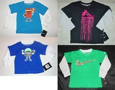 Nike Toddler Boys Long Sleeve T-Shirts 4 Choices Sizes 12M, 2T and 3T NWT