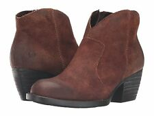 Women's Born ZipOn Western Bootie Boot Michel Tobacco Distressed D89726