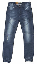 Mens Chisel Jeans Jogger Style Denim Jeans Elastic Cuffed Bottom Jeans - CJ-2864