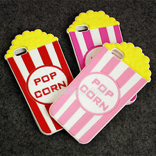 3D Cute POPCORN Cartoon Rubber Silicone Soft Case Cover for iPhone 5S 6 6S Plus