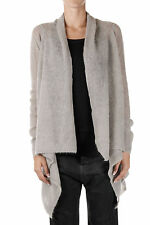 RICK OWENS Woman Grey Open Cardigan Made in Italy