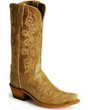 Lucchese N4689 Womens Pecan Lunar Calf Leather Western Cowboy Boots
