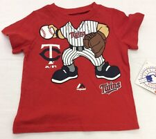 Majestic Toddler Shirt Baby Infant MLB Apparel, Red, Minnesota Twins