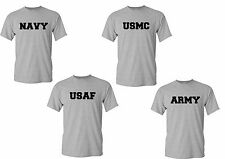 Military T shirt US Army Navy Air Force USAF Marines USMC Physical Training PT T