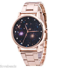 Fashion Star Sky Watch Women Stainless Steel Quartz Waterproof Dress Wrist Watch
