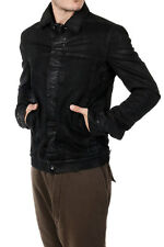 RICK OWENS DRKSHDW New Men Black Denim cotton Coat Jacket Made in Italy NWT
