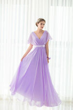 New Design Chiffon Bridesmaid Dress Lace Up Style Wedding Dress Bridal Gown