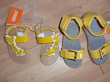 NWT GIRLS GYMBOREE SHOES, SANDALS SZ 6, 7, 8, 10 YELLOW AND BLACK