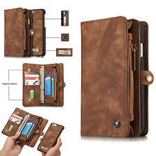 Removable Genuine Leather Wallet Card Flip Holder Case Cover For iPhone 6s Plus