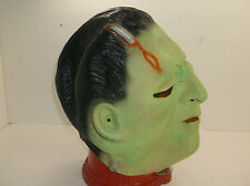 Vintage Rubber Frankenstein Monster Halloween Full Overhead Mask Latex