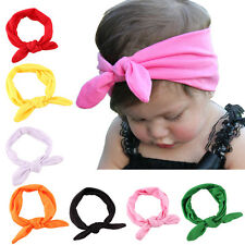 New Newborn Headbands Stretch Rabbit Bow Ear Turban Knot Hair Band Sublime  SH