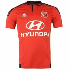 Adidas Olympique Lyon Away Jersey 2015 2016 Mens Red/Indigo Football Soccer Top