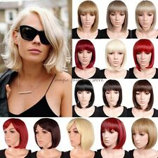 Real Thick BOB Wigs Short Straight Full Hair Cosplay Costume Party Fancy Dress