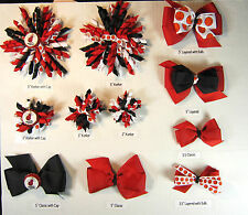 Miami Heat Themed Hair Bows Korkers Classic Bottle Caps U-Pick