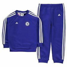 Adidas Chelsea FC 2 Piece Tracksuit Infants Blue Football Soccer Top Bottoms