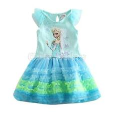 Frozen Princess Girls Dress Toddler Baby Kids Birthday Tutu Layers Party Dresses