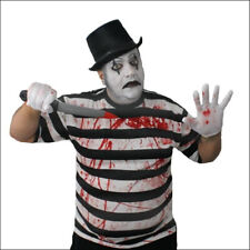 TOP HAT HORROR MIME COSTUME MENS HALLOWEEN PSYCHO FANCY DRESS FRENCH MAN ADULT