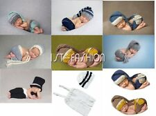 Newborn Baby Girl Boy Crochet Knitted Costume Photo Photography Prop Outfits