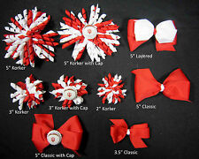 Indiana University Themed Korkers Classic Layered Toddler Hair bows UPICK