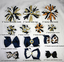 Notre Dame Fighting Irish Themed Hair Bows Korkers Classic Bottle Caps U-Pick