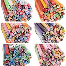 50pcs DIY 3D Fimo Canes Nail Art Stick Rod Polymer Clay Mix Stickers Tips Deco