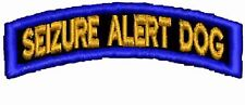 Seizure Alert Patch Service Dog Patch Rocker Up Working Dog Cres Black Red White