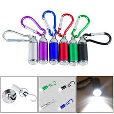 1W Mini Pocket LED Flashlight Telescopic Zoom Carabiner Aluminum Keychain Torch