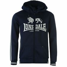 Lonsdale London Logo Full Zip Hoody mens Navy/Grey Jumper Sweatshirt Sweater